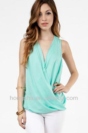 Los modelos de tela en blusas de gasa sin mangas 2013 de ne n de