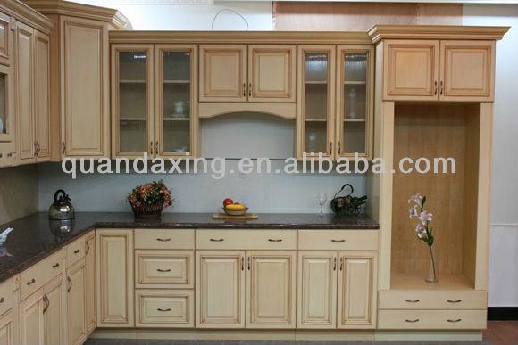 Montar blanco gabinete de cocina de roble mobiliario de - Montar muebles de cocina ...