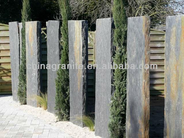 nero noir ardoise palissade pilier id du produit 760468976. Black Bedroom Furniture Sets. Home Design Ideas