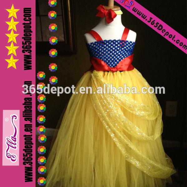 Las niñas princesa tutú pettiskirt vestido hecho a mano con diadema