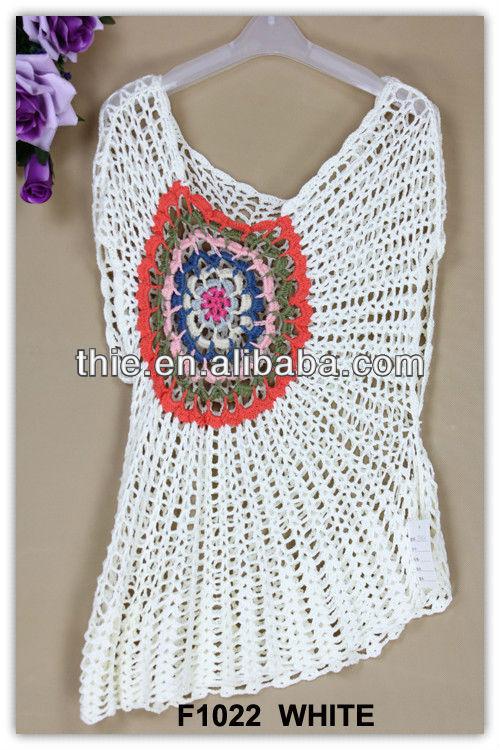 Patrones gratis de blusas modernas tejidas a crochet - Imagui