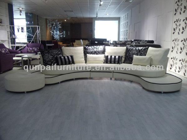 Di fascia alta divano in pelle italiana divani in pelle rotondo divani circolari f8023 divani - Divano angolo tondo ...