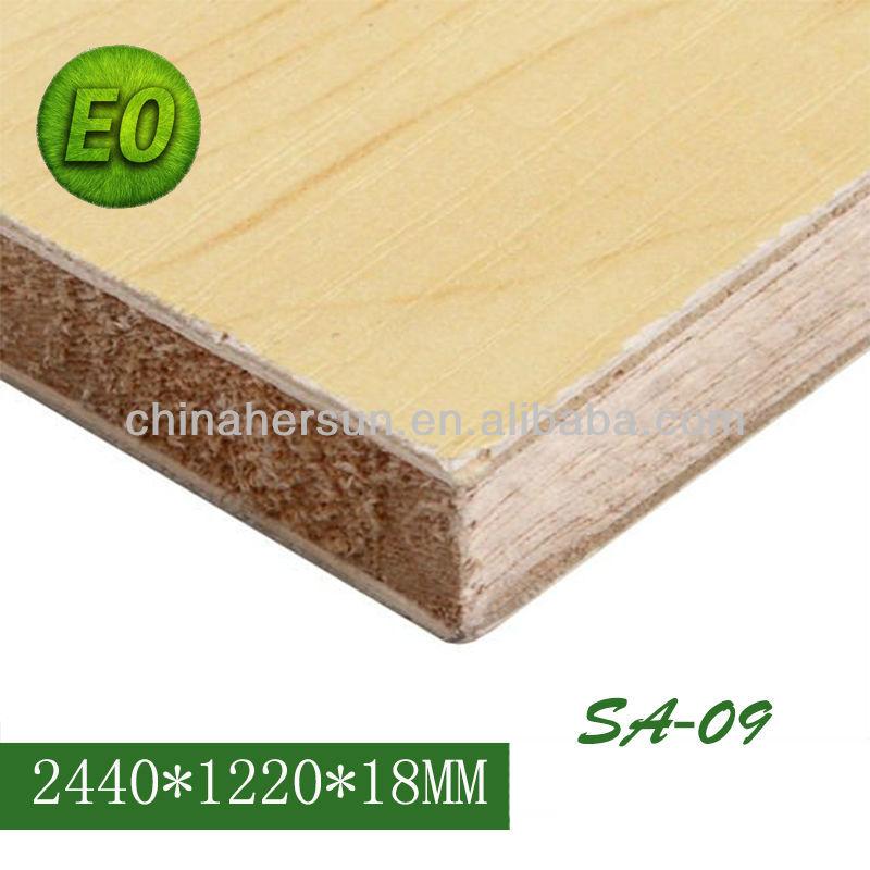 Hochglanz laminat malacca falcata block bord melamin