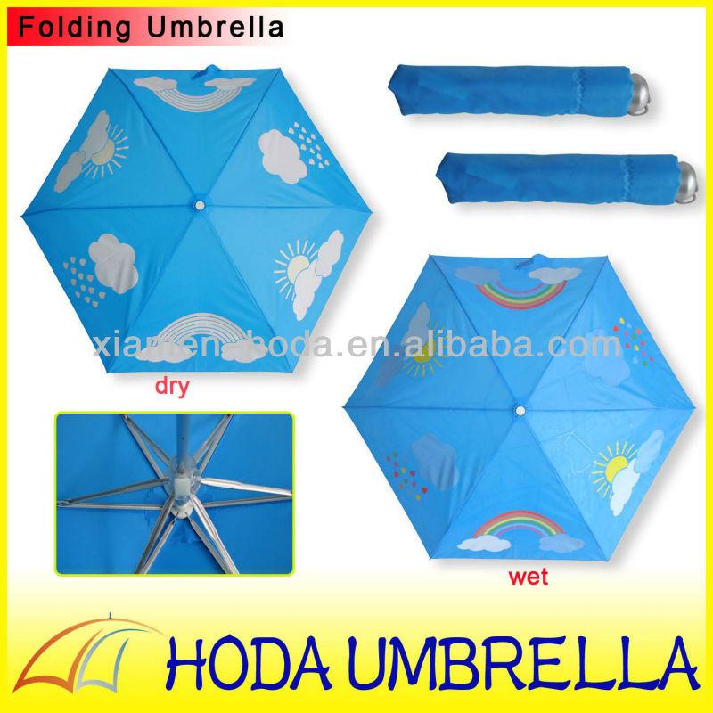 Diseño Del Rainbow Warrior Iii: Cambiar El Color Del Cielo Y Paraguas Arcoiris/3 Aluminio