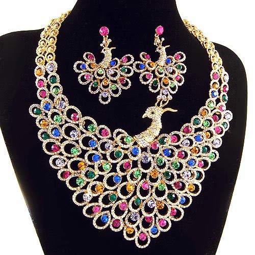 Shopzilla - Peacock Feather Earring Earrings shopping - Jewelry