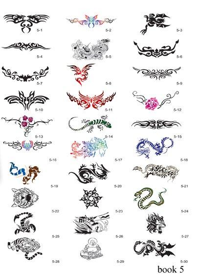 FREE SHIPPING30 Reusable temporary tattoo stencils booksNew designs book