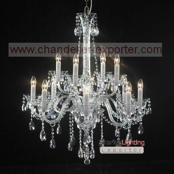 Bohemian crystal chandeliers, blown glass chandelier, chandeliers