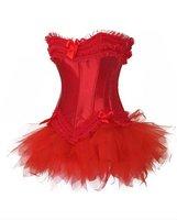 Корректирующее белье Sexy Lingerie Corset & Bustier + G-String Red 8153