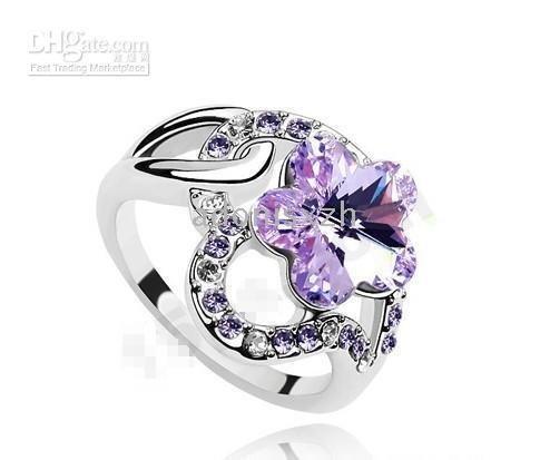 christmas gifts crystal rings ,fashion gemstone ring,women's birthday gift ...