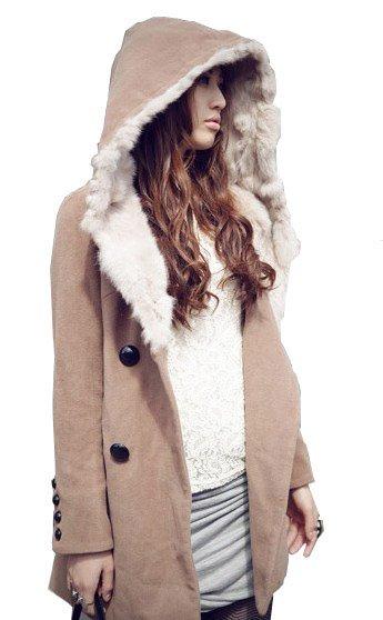 Wool coat with hood for ladies – Novelties of modern fashion photo ...