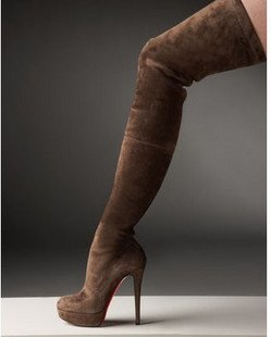 Thigh High Boots Brown - Cr Boot