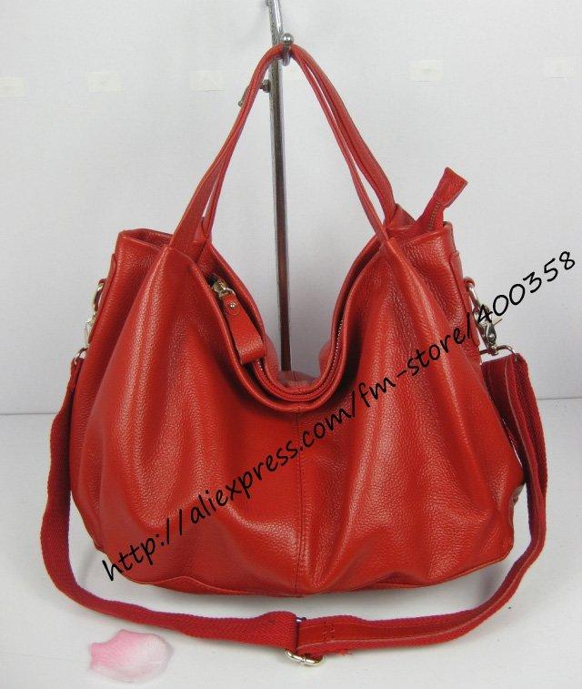 handbags beading Ladies'bag full grain leather ladies handbag free