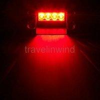 3 Flash Mode 44 LED Car Grill Dash Strobe Light Red