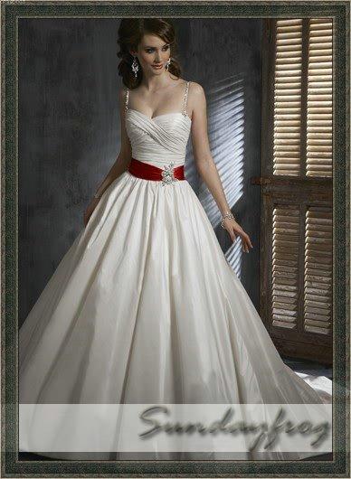 Satin Beaded Bow Ivory Wedding Dress Bridal Gown Evening Dress M225