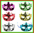 Free shipping Factory price electroplate shine halloween party mask masquerade masks stage property wholesale mask for ball