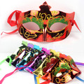 Free shipping electroplate shine colorful patten halloween party mask masquerade masks stage property wholesale mask for ball