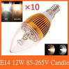 10pcs/lot E14/E12/E27 Dimmable candle bulb 3leds 3/6/9/12W AC85-265V warm /cold white LED bulb lamp + free shipping