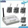 best selling Mini Wireless DVR (4-channels) motion detect + 4pcs pinhole wireless camera