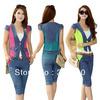 2014 Autumn Women Sport suit Casual clothes 3pcs set belt M-XXL Leisure Outfits Women tacksuit Ladies Sportswear