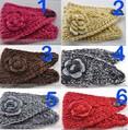 Free shipping 10 pcs/Lot Adult Women Knit Hairband Head Wrap Headband Crochet Button Hair Band Warmer