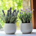 Provence lavender artificial flower purple small plants set artificial flower plastic flower dried flowers