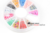 120pcs 3D Mix color Fimo Slice Nail Art Tips Sticker Polymer clay flower butterfly UV Acrylic nail art decoration Wheel