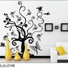 Free Shipping: Butterfly Love Flower Black Tree DIY Wall Art Home Decoration Fashion 3D Wall Sticker