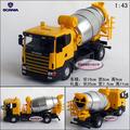 Scania 4 wheel cement mixer truck gift box alloy car model
