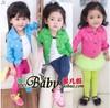 Girls jacket Retail 1 PCS 2013 denim jacket candy color Kids Child Baby outerwear girls coat children clothing