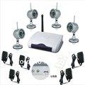 One to Four USB 2.4G Wireless Night Vision Surveillance Camera 4CH USB DVR CCTV Home Security safety surveillance System Kit