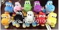 "Freee Shipping EMS 100/Lot 10 Colours High Quality Soft Plush Super Mario Plush 6"" Yoshi Plush Doll Anime Wholesale"