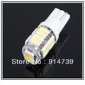 Free EMS/DHL shipping 100pcs/lot Led car 9 LED T10 5050 SMD White Color Car LED Light Bulbs Interior Wedge Lamp