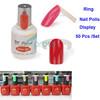 50 pcs Polish UV Gel Colour Pops Display Nail Art Ring Style Nail Tips Dropshipping [retail] SKU:F0149