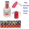 10PACKS/LOT 50 pcs Polish UV Gel Colour Pops Display Nail Art Ring Style Nail Tips Wholesale SKU:F0149X