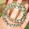 [Free Shipping] Green phantom crystal bracelet natural male Women ,