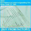 "High Quality Waterproof PET Inkjet Printing Film Milky Finish 24""*30m"