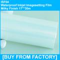"High Quality Waterproof PET Inkjet Printing Film Milky Finish 17""*30m"