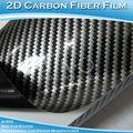 "8""x50"" 20x127cm Free Shipping Glossy 2D Carbon Fiber Vinyl Foil/Carbon Fiber Sticker For Auto"
