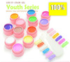 12 Jar LED/UV Color Gel system 12 colors *Pot 8ML / Set Nail Art Tips Extension Retail Box Shipment At Soon