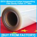 "High Density Polyester Clear Inkjet Waterproof Film Sandy Finish 17""*30m"