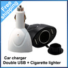 Free shipping Universal USB Dual 2 Port USB Car Charger   Auto Car Cigarette Lighter Socket Splitter 12V Charger Power Adapter