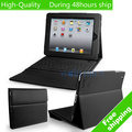 High Quality Universal Leather Case Cover with Bluetooth Wireless Keyboard for Apple iPad 2 3 4 Free Shipping DHL HKPAM CPAM B-1