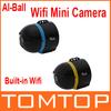 Two Colors Ai-ball World's Smallest Ultraportable Wifi Mini Surveillance Camera IP Camera Wireless Free Shipping wholesale