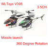 3.5CH Missile launch 360 Degree Rotation WL V398 RC Helicopter Gyro Infrared Control Electric Mini Micro Metal LED Alloy Frame