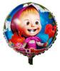 Free shipping 20 pcs/Lot 18 inches foil balloon,helium balloon,cartoon design Masha balloon