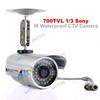 700TVL Sony CCD 6mm Lens 36pcs IR Outdoor CCTV Bullet Security Camera waterproof outdoor cctv camera