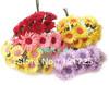 Free shipping Artificial flower cartoon mini chrysanthemum hair accessory wedding crafts home decoration