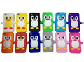 500pcs/lot, Cute 3D Soft Silicone Rubber Case Cover penguin for iphone 4 4G 4GS wholesale Fedex free shipping