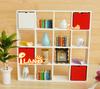 iland 1/12 Dollhouse Miniature 16 Grids Display Shelf Storage Stand White Wood WL024