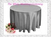10pcs 70'' Round Satin SILVER Tablecloths for Weddings Tablecloth Set Table Cloth Round Tablecloths Wedding Table Linens